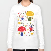 bugs Long Sleeve T-shirts featuring Worker Bugs by heidi kenney