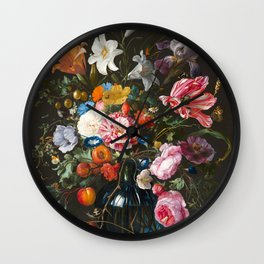Vase with flowers - Jan Davidsz. de Heem (1670) Wall Clock