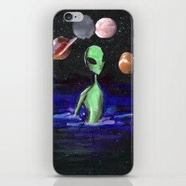 alien alone iPhone Skin