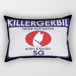 Killer Gerbil Tubing Blue Rectangular Pillow