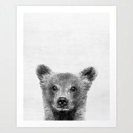 Baby Bear Peekaboo print Art Print