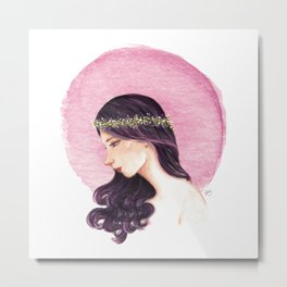 Purple Girl Metal Print