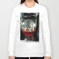 cocktail Long Sleeve T-shirts featuring Deadly Cocktail by Jorgenson Art Syndicate