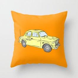 2 caballos viejo carro / old car custom spain ols model Throw Pillow
