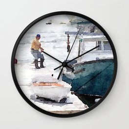 Lobster Boat Wall Clock