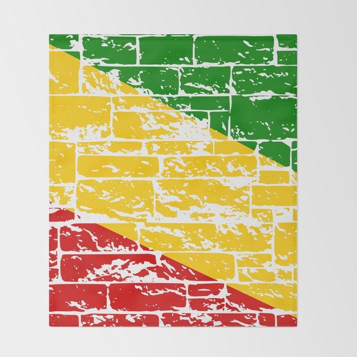 Rastafari Flag Throw Blanket