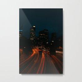 Downtown Sydney at night Metal Print