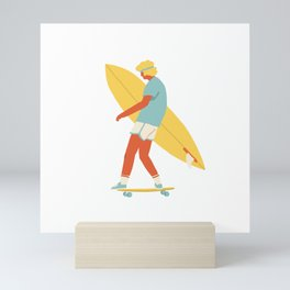 Skater from 70s Mini Art Print
