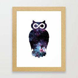 Super Cosmic Owlfinity Framed Art Print
