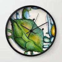 crab Wall Clocks featuring Crab by Dylan Morang