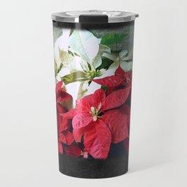 Mixed color Poinsettias 3 Blank P4F0 Travel Mug