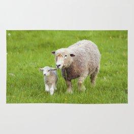 Mama Sheep and Baby Lamb Rug
