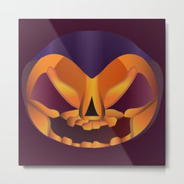 The face of Halloween Metal Print