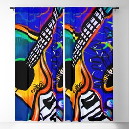 Carnival Jazz Painting Blackout Curtain