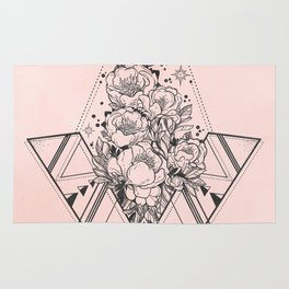 Roses in Moonlight Pink Rug