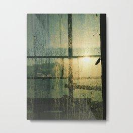 Streaming Light Metal Print