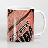 basketball Mugs featuring Basketball Banaza by Lavender~Ramonde