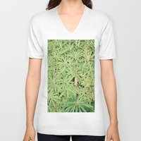 plants V-neck T-shirts featuring plants by sassycats