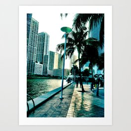 concrete shore Art Print