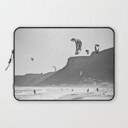 Windsurfers having fun on the Atlantic Ocean - Landscape Photography #Society6 Laptop Sleeve