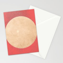 Imperial Coral - Moon Minimalism Stationery Cards