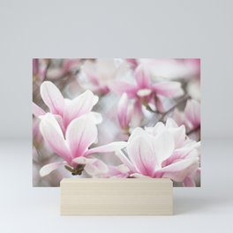 Pink Magnolia Flowers Mini Art Print