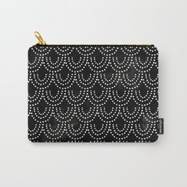 Dotted Scallop in Black Carry-All Pouch