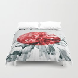 Japanese Flag Extrude Duvet Cover