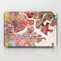 boston iPad Cases featuring Boston by MapMapMaps.Watercolors