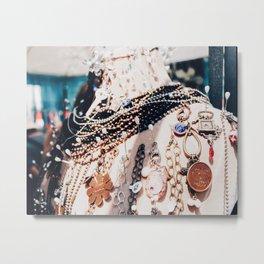 Pistols & Pearls Metal Print
