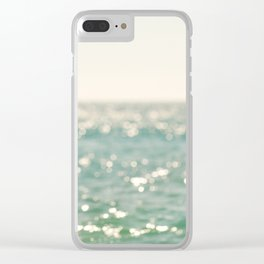 beach. bokeh sparkle. ocean. La Mer Clear iPhone Case