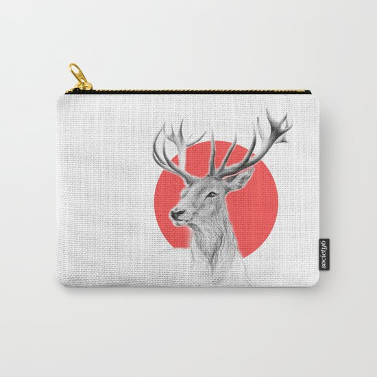 Deer | red Carry-All Pouch