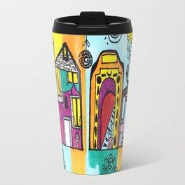 La ville du couleurs Travel Mug