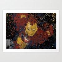 Iron Man Splatter Art Print