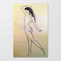 grace Canvas Prints featuring Grace by Balance Works