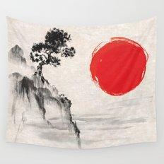 Japanese Landscape Art Wall Tapestry