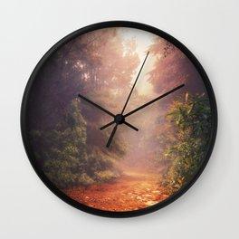 Back into the Fall Wall Clock