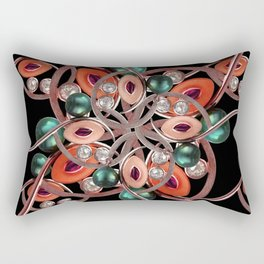 Luxury Collage Ornament New Noveau Artwork Rectangular Pillow