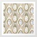 White Quartz & Gold Elegant Pattern by tanyalegere