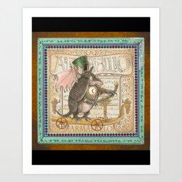 Steam Punk Creations-Armadillo Art Print