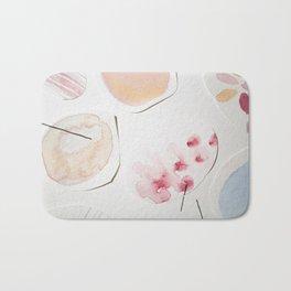 Minimalist Watercolor Collage Detail II Bath Mat