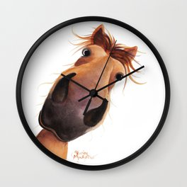 Happy Horse ' MAD MAX ' by Shirley MacArthur Wall Clock
