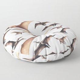 Realistic watercolor dinosaur Floor Pillow