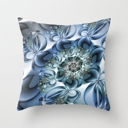 Dynamic Spiral, Abstract Fractal Art Throw Pillow