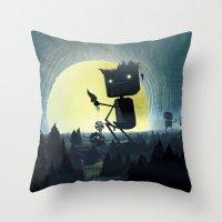 giants Throw Pillows featuring Hill Giants by GlennPorterArt