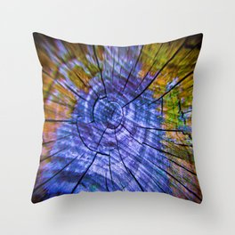 Nature's Tye Dye Throw Pillow