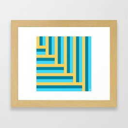 Colorful line arrow pattern. Framed Art Print