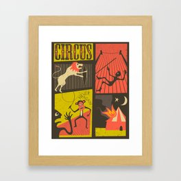 Trouble at the Circus Framed Art Print