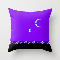 saturn Throw Pillows featuring Saturn by noirlac