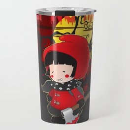 Wolf no more.Little Red Riding Hood v.2 Travel Mug